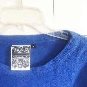 •new• Jungmaven hemp/cotton blue crewneck sweater